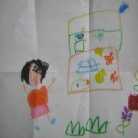 愛孫が保育園で描いてきた絵