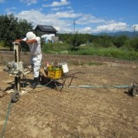 地盤の状況を調査し、結果に伴い改良工事を行います ・・・ 住宅新築工事