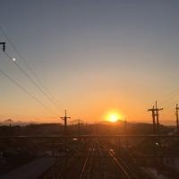六甲山から登る朝陽
