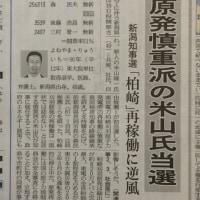 新潟県知事選挙 原発慎重派当選