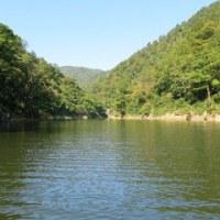 山形長井市の長井ダム (三淵渓谷)