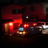 深夜の救急車