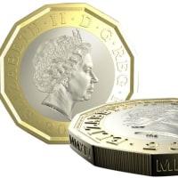 イギリスで、新1ポンド硬貨が流通開始。
