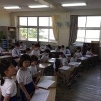 全校児童で応援練習スタート