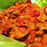 晩御飯はブタ肉のトマトソース煮