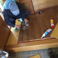 経年劣化で凸凹した廊下の床板を張り替え 茨城 利根