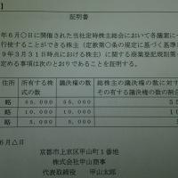 「株主リスト」証明書例