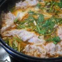 葉玉ねぎでキムチ鍋でラーメン