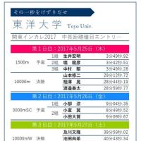 「輝け鉄紺!」でも陸上関東インカレのエントリー発表! 少しレースを占ってみました。
