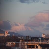 2017年2月21日,今朝の富士山