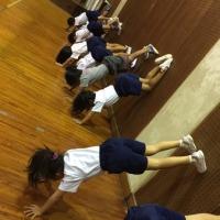 倒立の練習