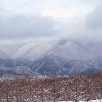 奥塩原の雪景色。