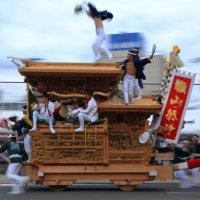 岸和田10月祭礼のだんじり。