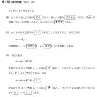 大学入試センター試験・数学・整数 164