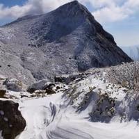 青空と雪山