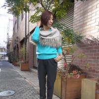 【着用写真を追加しました♪】パシオーネ☆ウォッシャブルカシミヤニット☆