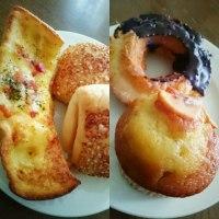 朝ご飯は、パンとドーナッツ(ローソン)