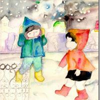 カレンダーを模写 好きな堀文子画家の絵
