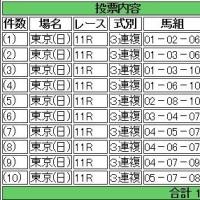 馬券買った(東京新聞賞・きさらぎ賞)