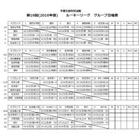 第16回(2016年度) 中信支部内交流戦 ルーキーリーグ グループ日程表