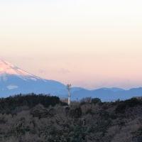 今朝の紅富士 2017.1.23.(月)