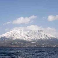 2月10日(金)雪・あられ 利用者8名 買物2人・桜島の冠雪