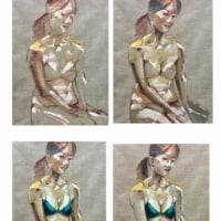 岩田壽秋:裸婦絵画講習会:週末は美女を愛でて