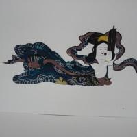 とよこの絵 寶圓寺さんの欄間の彫刻を描きました