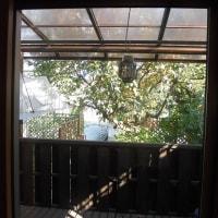 DIY(テラスを部屋らしく窓を付ける その1)