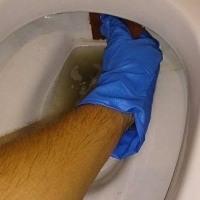 頑固な尿石 トイレ掃除もお任せください