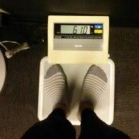 今日の体重 61.0💓