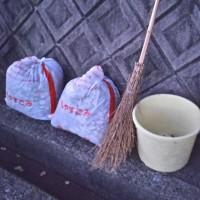 初王神社の落ち葉🍂掃除