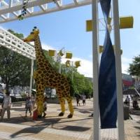 LEGOの巨大キリン 大阪海遊館