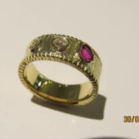 Ruby & Old Cut Diamond Ring