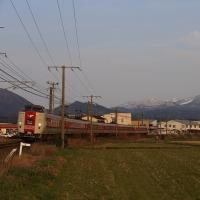 特急やくもを撮影~伯耆大山付近にて_17/03/18