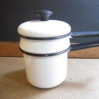エナメル製ダブルボイラー/Enamel Double Boiler~White~
