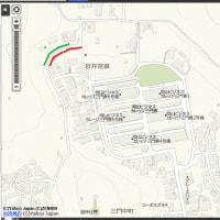 岡山市北区の池田動物園の近くの急斜面で土砂崩れなどの可能性。