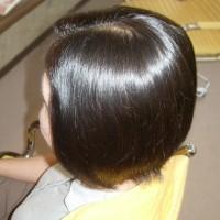広がる髪もサラサラ、そしてまとまります