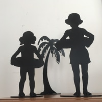 鉄の切り抜き 人形