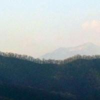 山が霞んで・・・