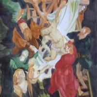 水彩模写「キリスト降架」