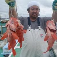 9月24日、マダラ調査、順調、写真船長メヌケ2、2㌔。