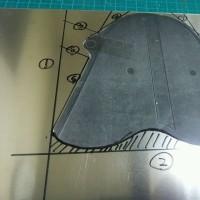 MBX補完計画@350 Fスプロケカバーの製作 其の一 完璧な型紙