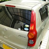 ミラの洗車&シランガード施工