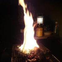 2017 自宅で今年初のBBQ ~焼肉、じゃがいものアヒージョ、フランスパン~