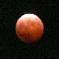 皆既月食(紅い月)