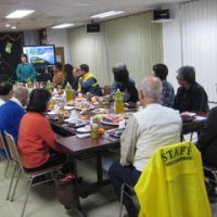 セーフティボランティアの親睦会と、地域の中学校区の役員会の親睦会のハシゴでした。