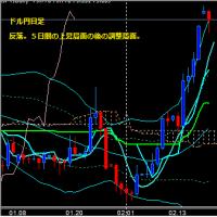 日足 日経225先物・米国・ドル円  2012/1/21