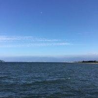 同じ日の海と山の空