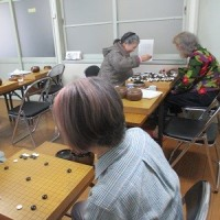 今日の囲碁サークル例会